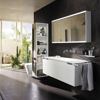 Burgbad Yso Комплект подвесной мебели 129.5x49x45 см, цвет: белый матовый