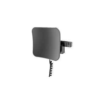 Emco Evo Косметическое зеркало, LED, 209x209mm, 2-колено, шнур, 5x увелич., подвесное, цвет: черный