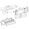 Keuco Edition 11 Planning Комплект мебели 140х53.5х35 см, платиновый дуб