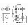 """Zucchetti Aguablu Термостатический смеситель, для скрытого монтажа 1/2"""", с двойным переключателем, цвет: хром"""
