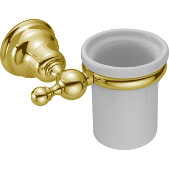 HUBER Croisette Стакан подвесной, цвет золото/керамика