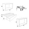 Karol KS comp. №14, комплект подвесной мебели 120+40 см. цвет: Bordeaux + Grey