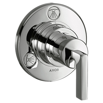 Axor Citterio Встраиваемый запорный вентиль, переключателем потоков на 3-4источника, цвет: хром