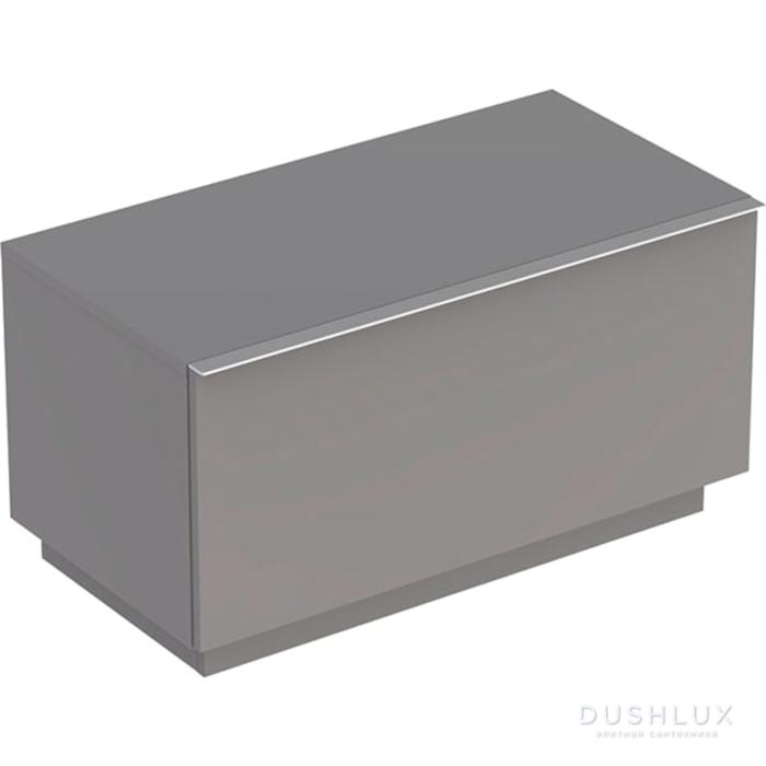 Geberit iCon Шкафчик с одним выдвижным ящиком, напольный 89х47.2х47.7см, цвет: платиновый