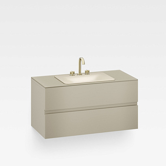 Armani Roca Baia Тумба подвесная с раковиной, 120х59х61см с 2 ящиками, со столешницей, цвет: greige