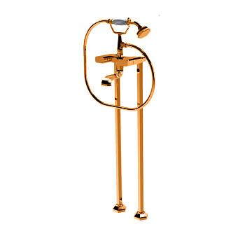 Petracers Divino, Наружный комплект кранов для ванны на напольных высоких стойках, цвет: бронза