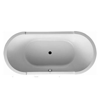 Duravit DuraSquare Ванна 1800x800мм,  угол левый, с панелью и ножками.с 2 наклонами для спины, цвет белый