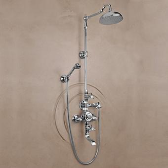 Herbeau Monarque Термостатический смеситель для ванны и душа на 3 отверстия, цвет хром