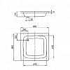 Kaldewei Sanidusch, душевой поддон материал сталь-эмаль 3,5 мм, диаметр слива 52 мм, 800*800*140 мм, (необходимо доукомплектовать ножками 5200 и сифоном), Цвет: белый