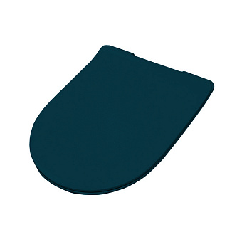 Artceram FILE 2.0 Крышка с сиденьем Slim для унитаза, механизм soft-close, цвет: petrolio/хром