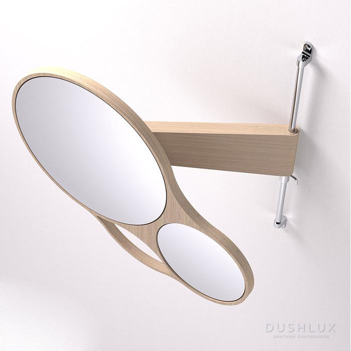 Agape Spin Двойное зеркало 47x44 см, цвет: тик