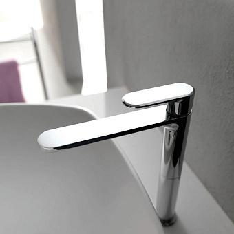 CISAL LineaViva Смеситель однорычажный для раковины на 1 отверстие,высокий h175 мм,без донного клапана, цвет хром