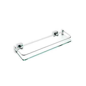 StilHaus Urania Полочка стеклянная с ограждением 40 см, подвесная, цвет: хром