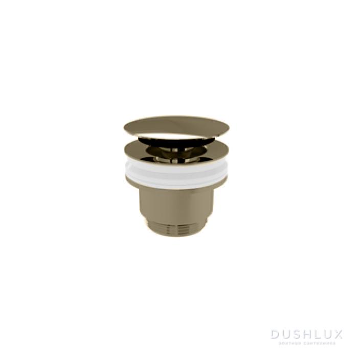 Devon&Devon Донный клапан CLICK-CLACK без перелива, цвет: никель сатинированный