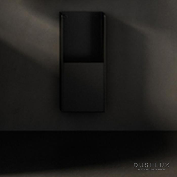 Agape Mach 2 Диспенсер для санитарных пакетов подвесной 30x12.8 см, цвет: черный