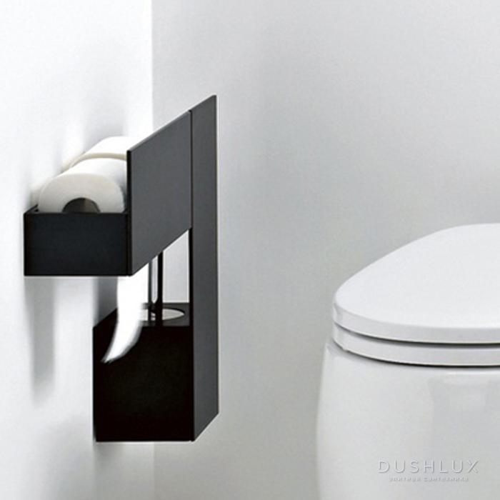 Agape Sen Туалетный ёршик, подвесной, цвет: черный