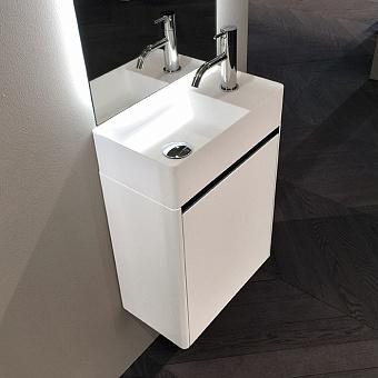 Antonio Lupi Simplo Комплект подвесной мебели 45х25хh50см, с раковиной, с 1 дверцей DX, цвет: белый goffrato