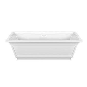 Gessi Eleganza Ванна отдельностоящая 180х85х55см, со сливом-переливом, цвет: матовый белый