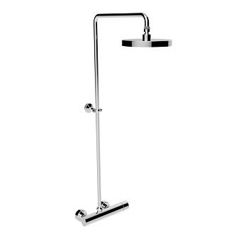 Stella Bamboo Душевой комплект 3283/301-200: смеситель, штанга+верхний душ 200мм, цвет: хром
