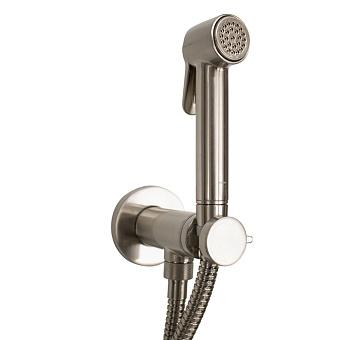 Bossini Paloma Brass Гигиенический душ с прогрессивным смесителем, лейка металлическая, шланг металлический, цвет: брашированный никель