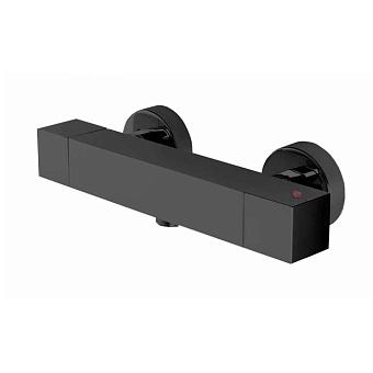 Bossini Cube Tермостат для душа, наружный, 1 выход  1/2', цвет: черный матовый