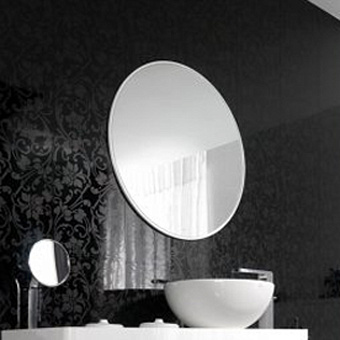 Noken Lounge Зеркало Ø80 cм. с рамой из лакированного дерева, цвет: белый