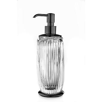 3SC Elegance Дозатор настольный, цвет: прозрачный хрусталь/черный глянцевый