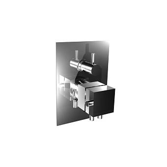 Bongio Domino Термостатический встраиваемый смеситель с дивертором на 2 источника, цвет: хром