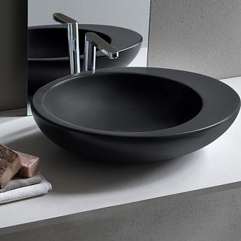 Cielo Le Giare Раковина накладная 60×45×14.5h см, цвет: глянцевый черный