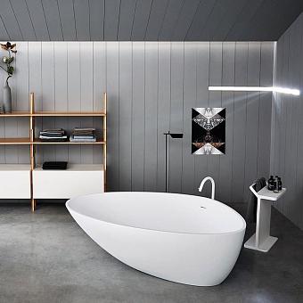 Agape Drop Ванна отдельностоящая 195х129х57.5 см, цвет: белая