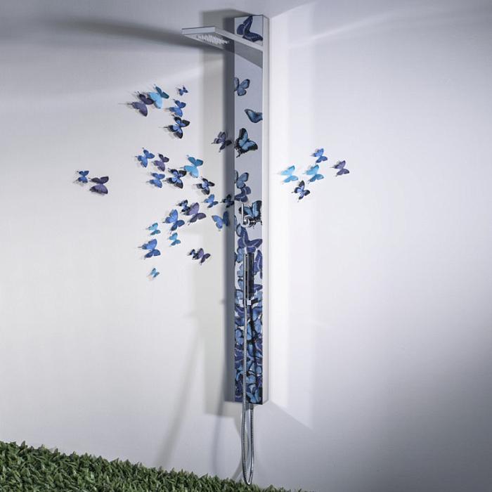 Душевая колонна Bongio Tattoo, цвет: butterfly blue