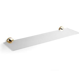 3SC Ribbon Полочка стеклянная 50х12см, крепление h3см, цвет: золото 24к. Lucido