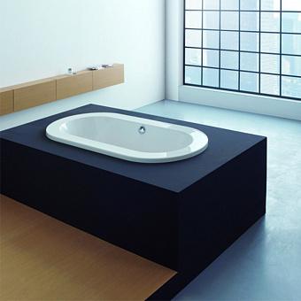 Hoesch Philippe Starck Ванна встраиваемая 180x90x62см, с гидро и аэромассажем Deluxe Whirl+Air, цвет: белый