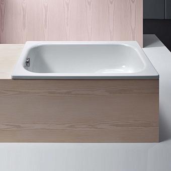 Bette Basic Ванна встраиваемая 105x65x42 см, со ступенькой-сиденьем, BetteGlasur® Plus, цвет: белый