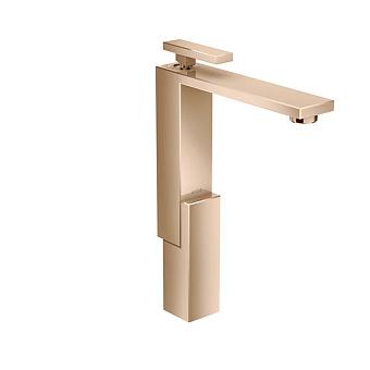 Axor Edge Смеситель для раковины, на 1 отв., с донным клапаном push/open, излив 180мм, цвет: красное золото