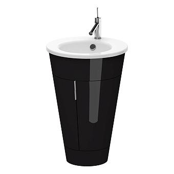 Duravit Starck 1 Тумба напольная 600x560xh825 мм с раковиной и сифоном, подсветка LED, цвет: черный глянцевый