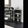 Gentry Home Nottingham Etagere шкаф напольный 40х90х40 см, отделка: матовый лак, белый профиль, 2 полки с зеркалом, 1 ящик