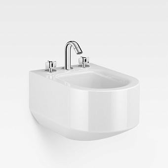 Armani Roca Baia Биде подвесное 56x38x30см с 3 отв. под смеситель, цвет: белый