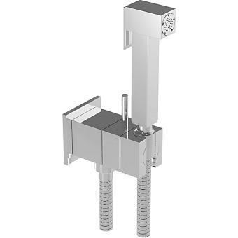 HUBER Shower Гигиенический душ со шлангом 120 см,вывод с держателем и встроенный прогрессивный картридж, цвет хром