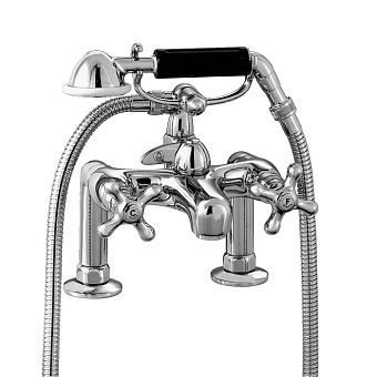 Stella Roma Смеситель на борт ванны на 2 отверстия 3267RG306 с ручным душем, цвет: хром