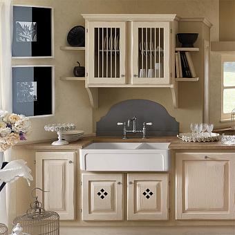 Kerasan Hannah Oxfordshire Раковина 100x47x25.4 см, без отв., кухонная, цвет: белый