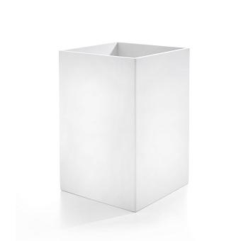 3SC Mood White Ведро, без крышки, 20х30х20 см, композит Solid Surface, цвет: белый матовый