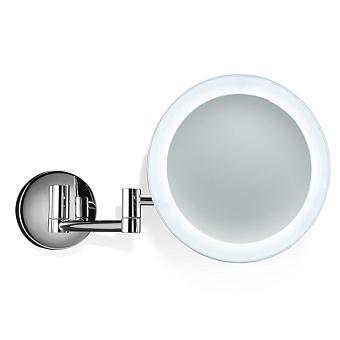 Decor Walther BS 60/V N Косметическое зеркало 20см, подвесное, увел. 5x, подсветка LED, цвет: хром
