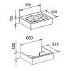 Keuco Edition 300 Комплект мебели 65x52.5х15.5, олива