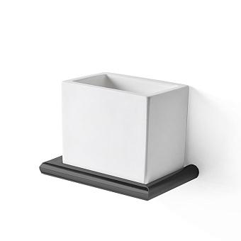 3SC Guy Стакан подвесной, композит Solid Surface, цвет: белый матовый/черный матовый
