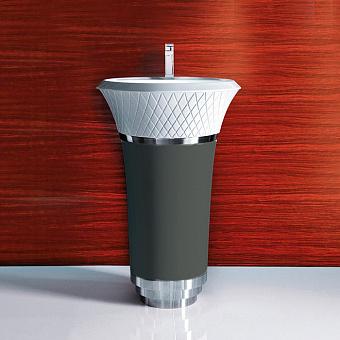 Falper George Раковина напольная 58х58х87 см, выпуск в стену, цвет: железо