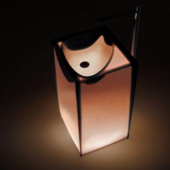 Antonio Lupi Astro Раковина 50х45х85 см, напольная, слив в пол, без отв для смесит, с дон клапан, сифоном и трубой слива, Cristalmood, цвет: Ginger