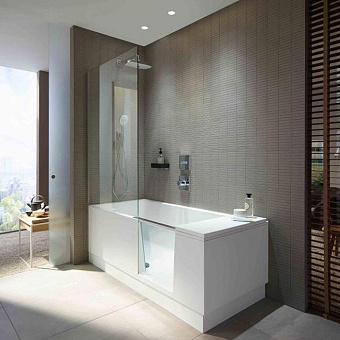 DURAVIT Shower + Bath Bathtub Ванна 1700х750хh2105 мм, прямоугольная с входной дверью и душевой шторкой, SX - левосторонняя, цвет: белый