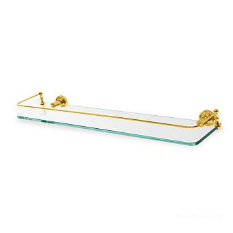 StilHaus Smart Полка стеклянная с ограждением, 60х7х5 см, цвет: золото