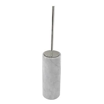 3SC Elegance Туалетный ёршик, напольный, цвет: мрамор bianco carrara/хром